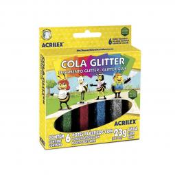 Cola Glitter Acrilex c/ 6