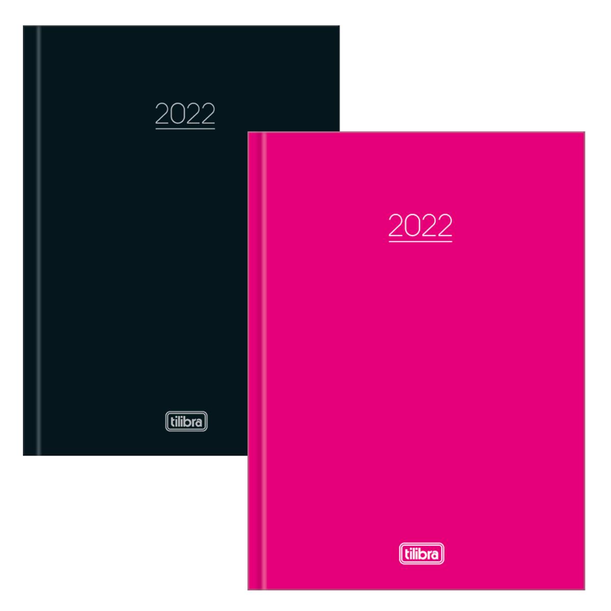 Agenda 2022 Pepper Capa dura  Executiva Preta/Rosa - Tilibra
