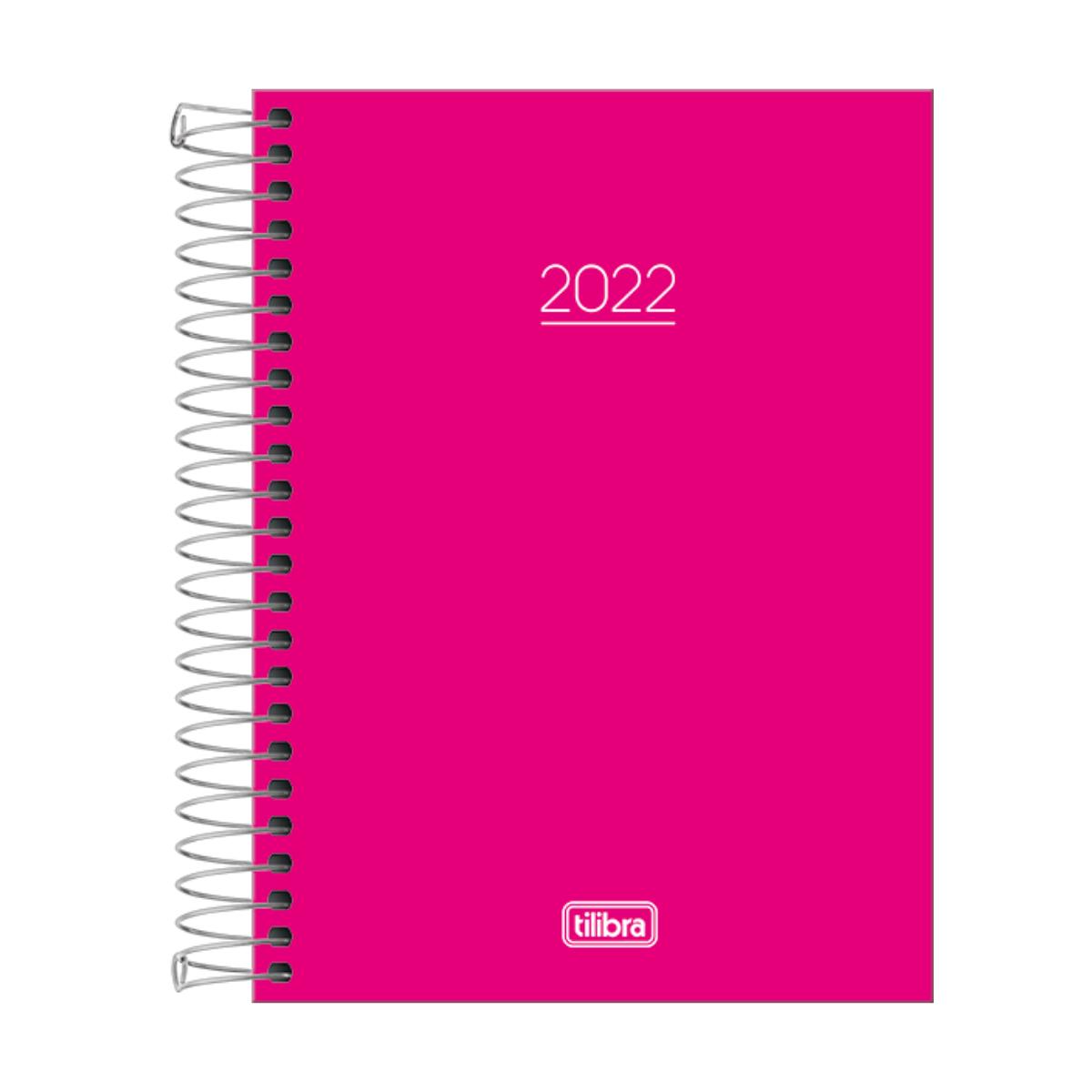 Agenda Planner 2022 Espiral Datada Rosa