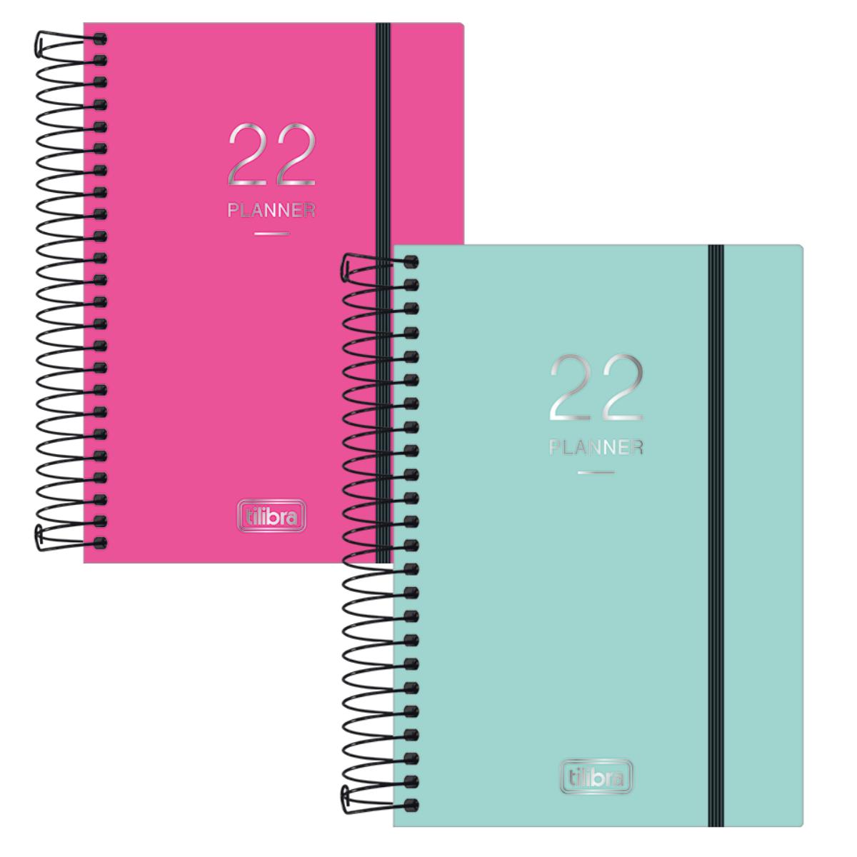 Agenda Planner 2022 Neon Azul e Rosa para Anotações - Tilibra
