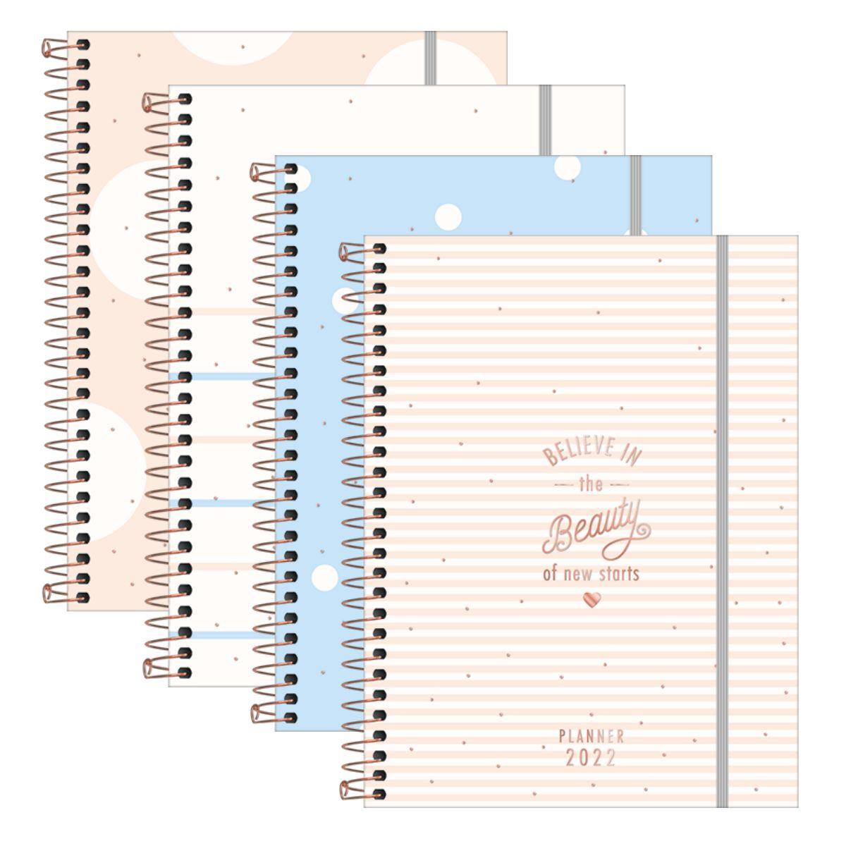 Agenda Planner Happy Days Soho 80 folhas diferentes modelos