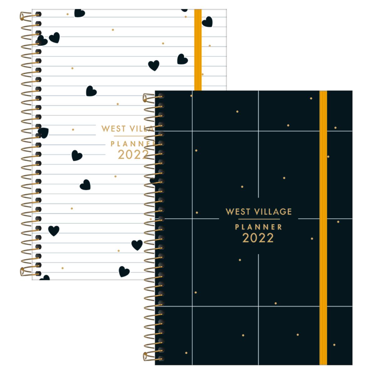 Agenda Planner Semanal 2022 West Village 80 folhas 2 capas diferentes - Tilibra