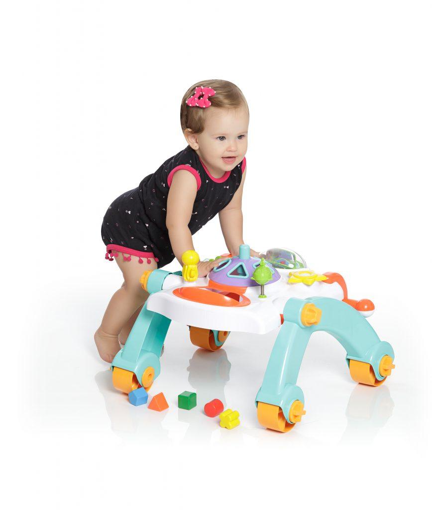 Andador Calesita Mesa Infantil Didático 3 Em 1 Para Bebê - Tateti