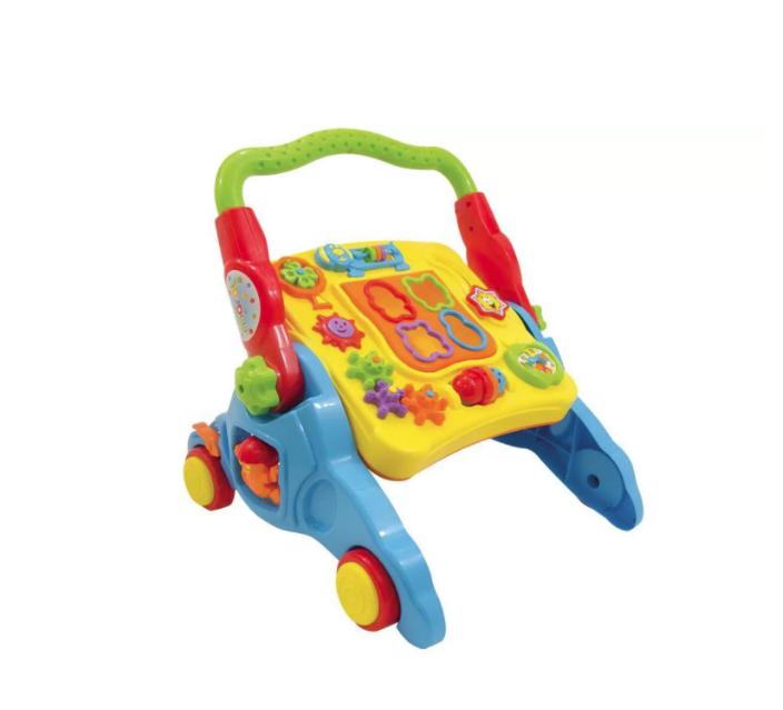 Andador Infantil Didático Com Som Bebê 4 Em 1- Maral