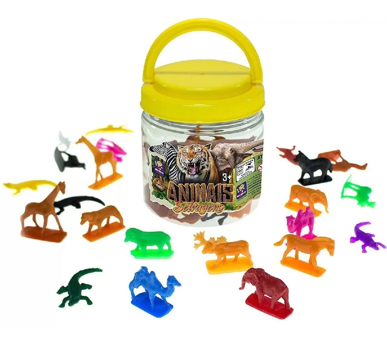 Animais Selvagens Pote com 50 Miniaturas Mimo