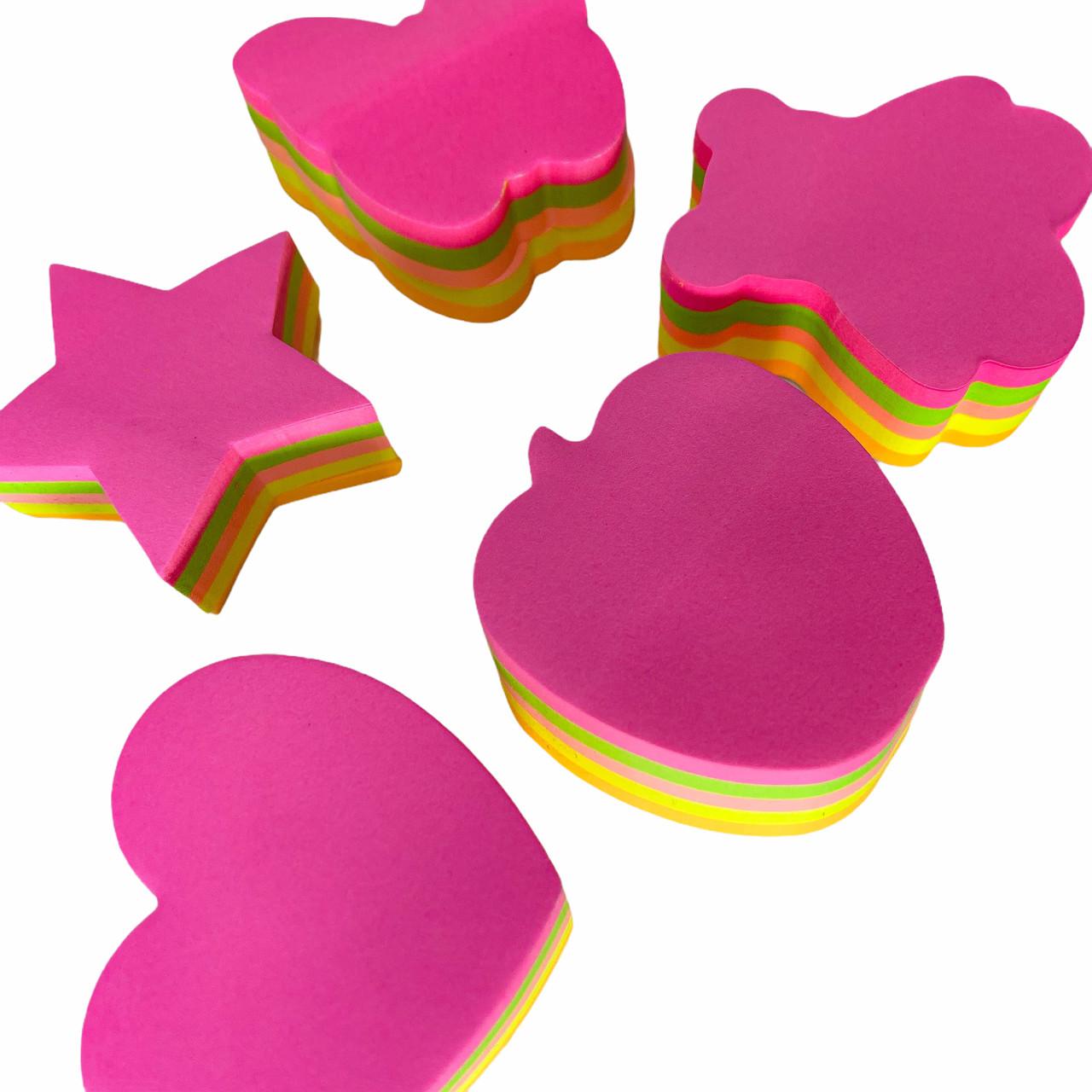 Anote e Cole Formas Diversas Colorida Neon 200 Folhas Moure Jar
