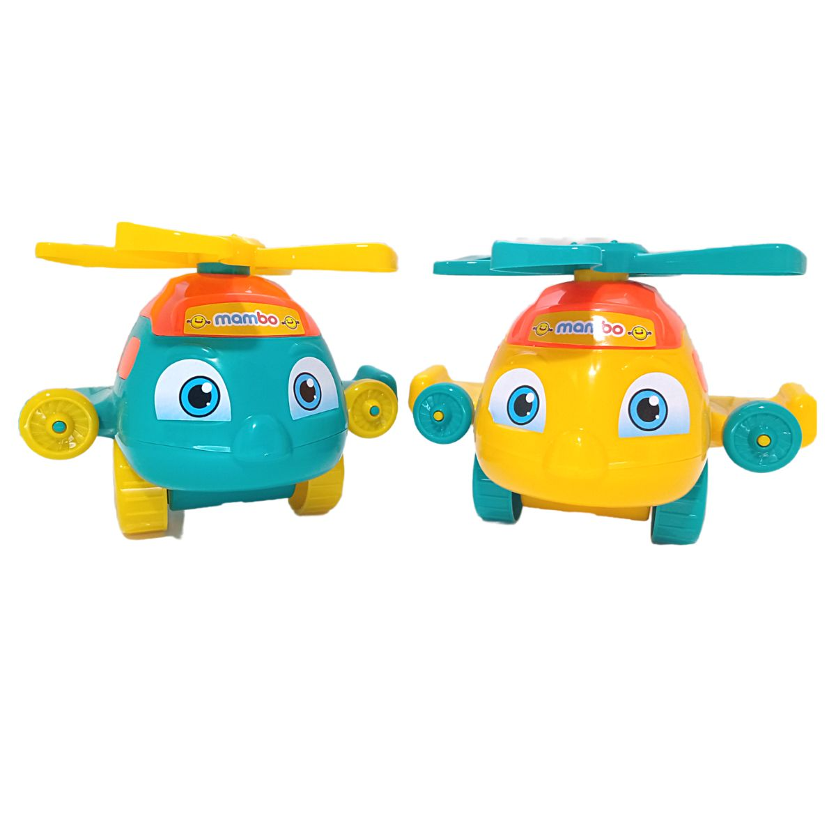 Avião Push Plane Helicóptero P/Bebês Educativo Bs toys Cores Sortidas