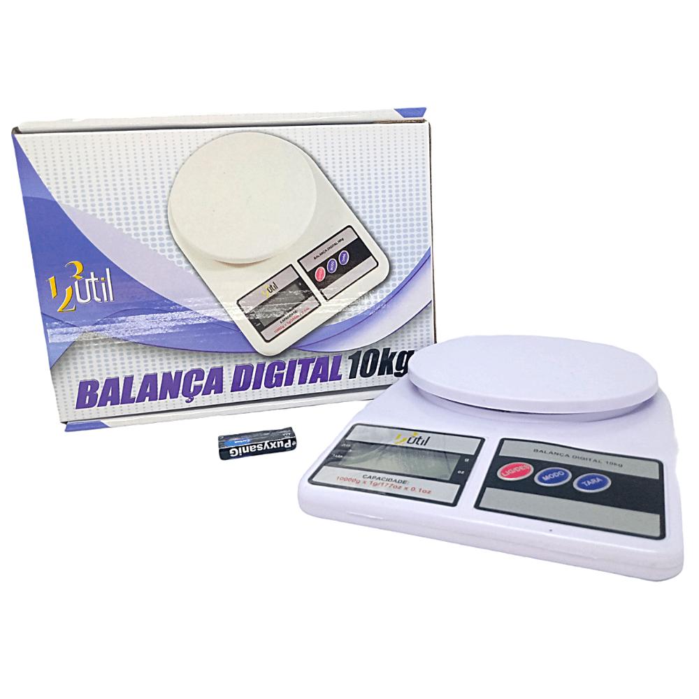 Balança Digital De Cozinha Eletrônica 10kg Com pilha