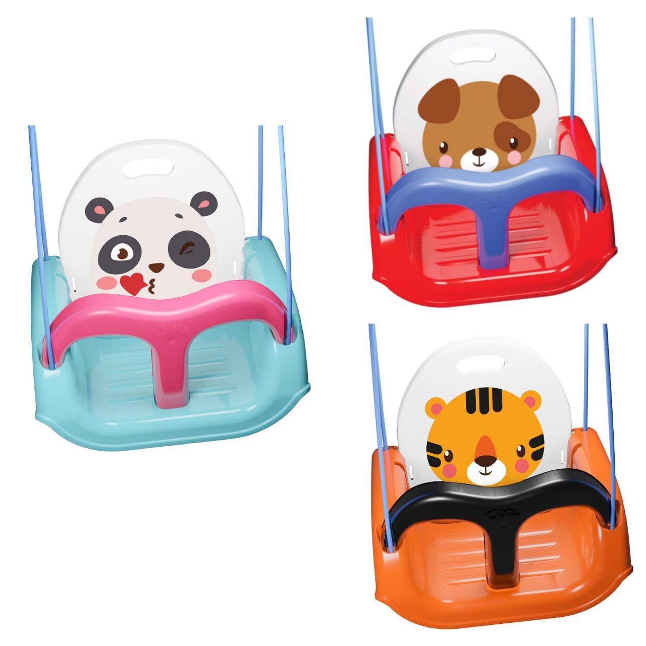 Balanço Infantil Animais Fofos Cinto De Segurança Meu Balancinho