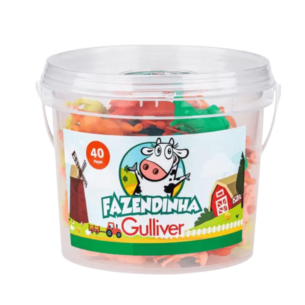 Balde Animais Da Fazendinha 40 Peças - Gulliver