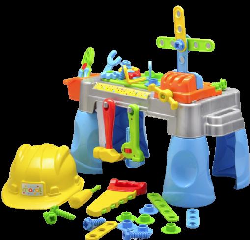Bancadinha De Ferramentas Brinquedo Infantil Com Capacete - Maral