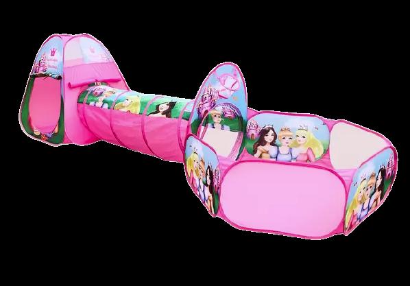 Barraca 3 em 1 Princesas Dm Toys