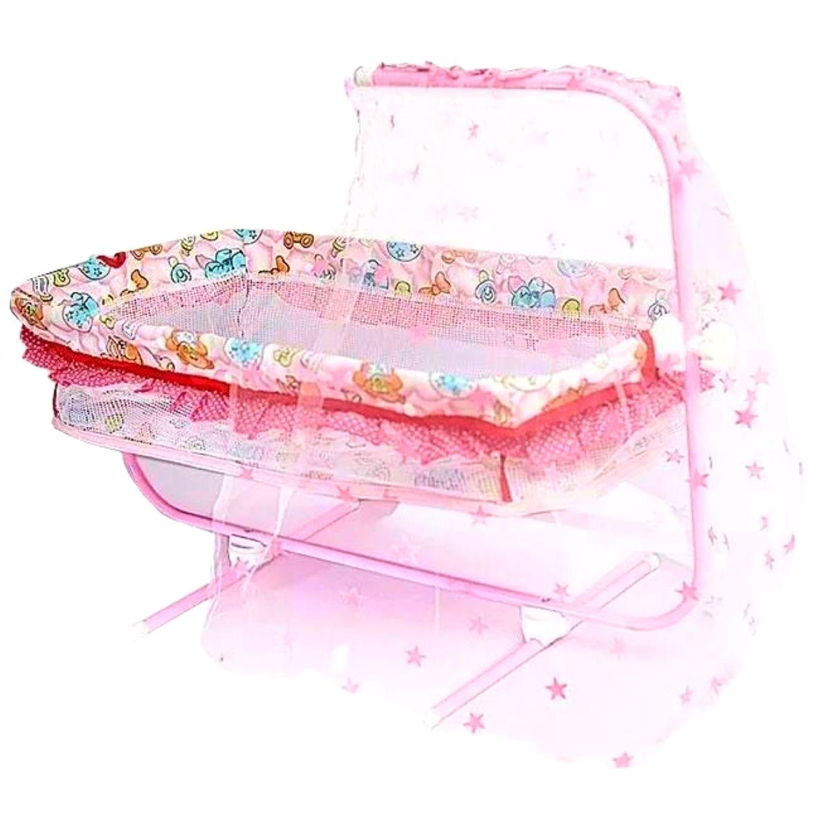 Berço Para Boneca Rosa M&P A2 SORTIDO