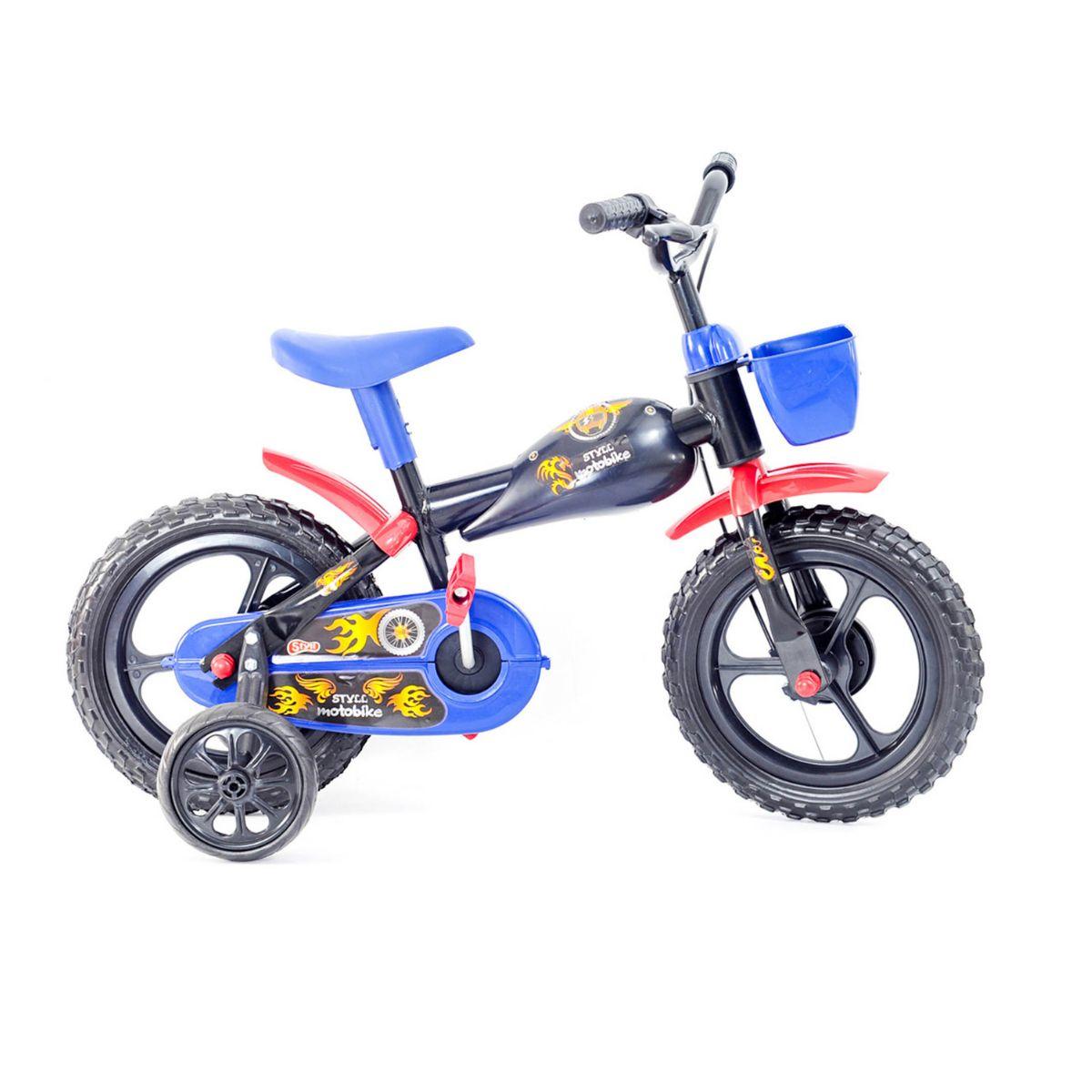 Bicicleta  Infantil Styll Baby Motobike Aro 12 Cor Preto