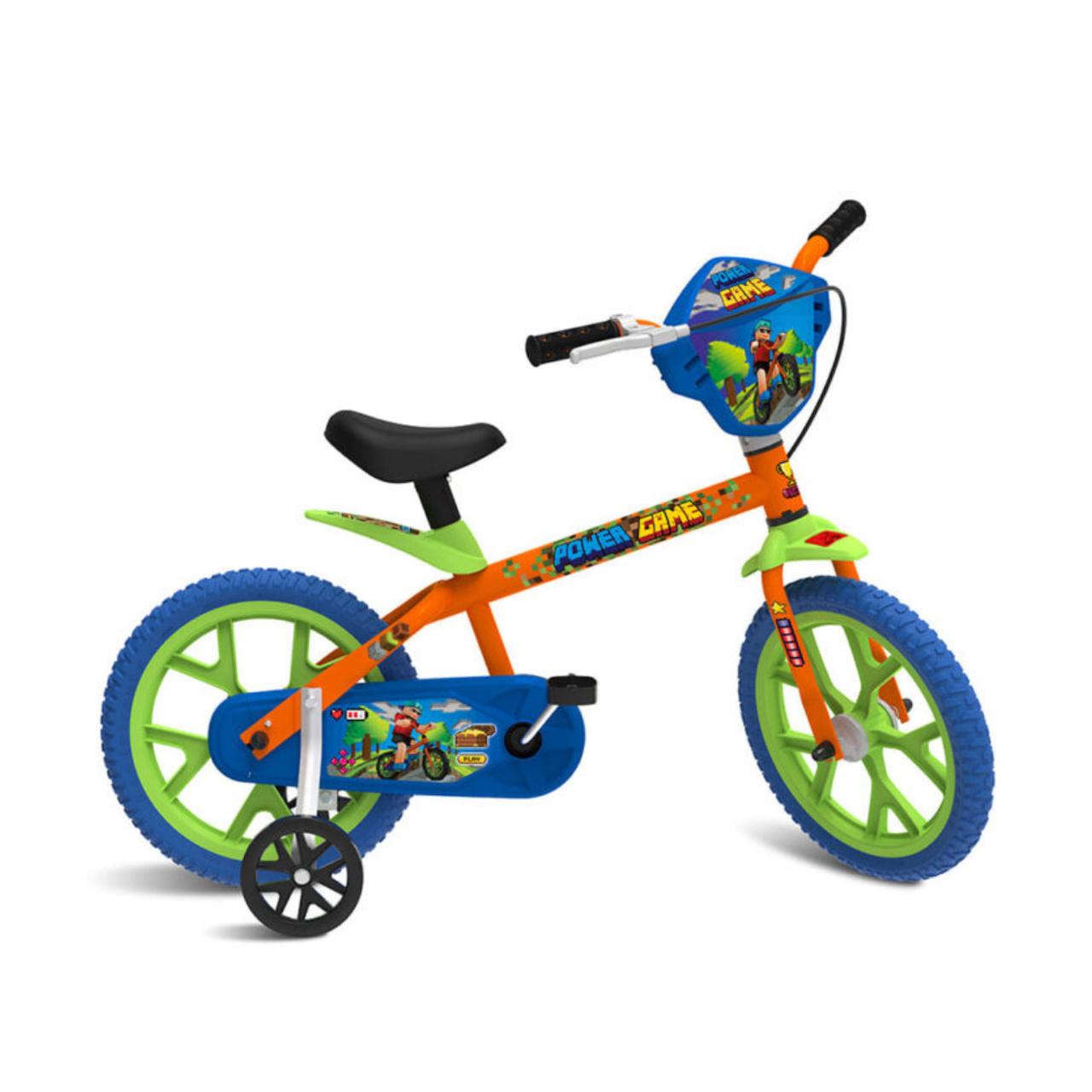 Bicicleta Bandeirante Menino Power Game Aro14 Lj/Vd Ref:3066