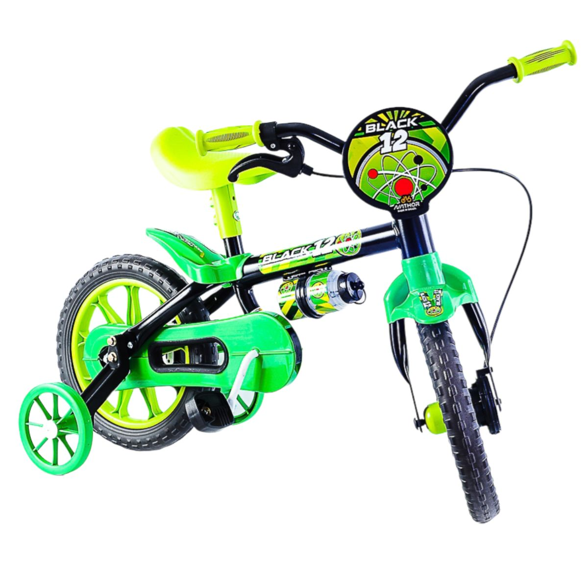 Bicicleta Black Aro 12 Verde e Preta