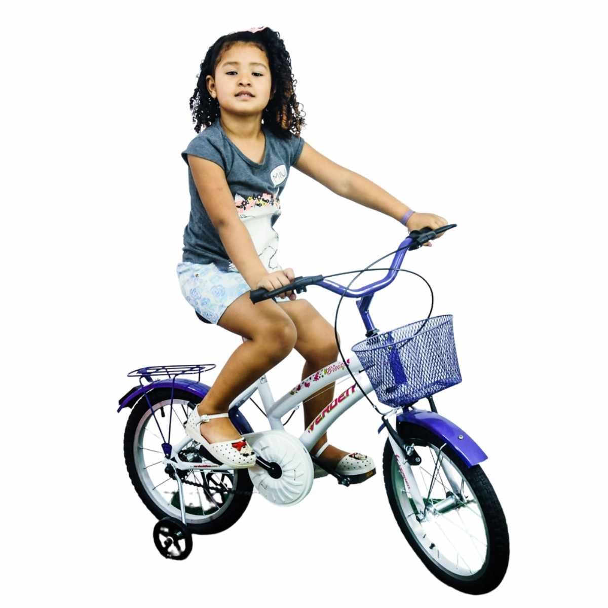 Bicicleta Infantil Breeze lilás Aro 16 com rodinha