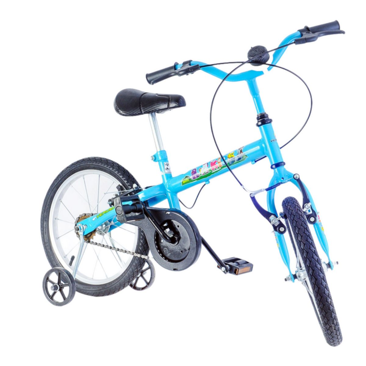 Bicicleta Infantil Kids Azul Acgua Aro 16 com rodinha