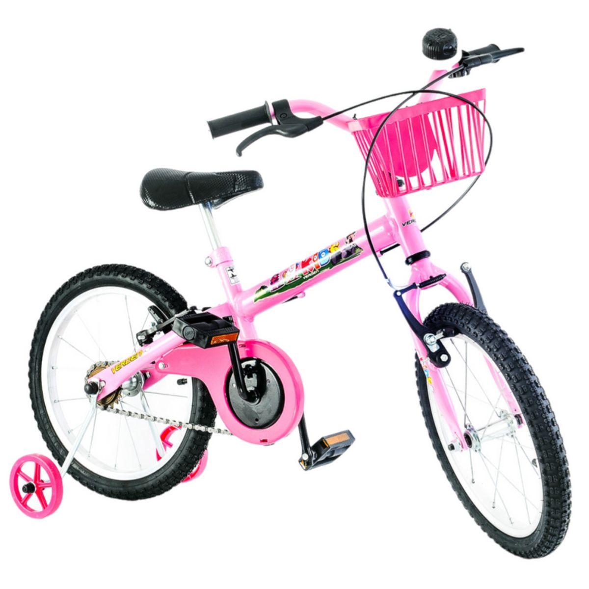 Bicicleta infantil Kids Rosa Aro 16 com rodinha