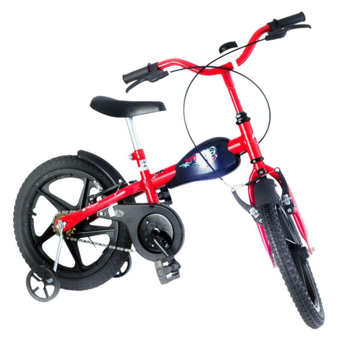 Bicicleta Infantil VR 600 Vermelha Aro 16 com rodinha