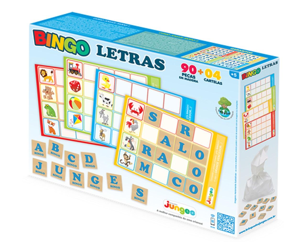 Bingo de Letras Infantil Junges