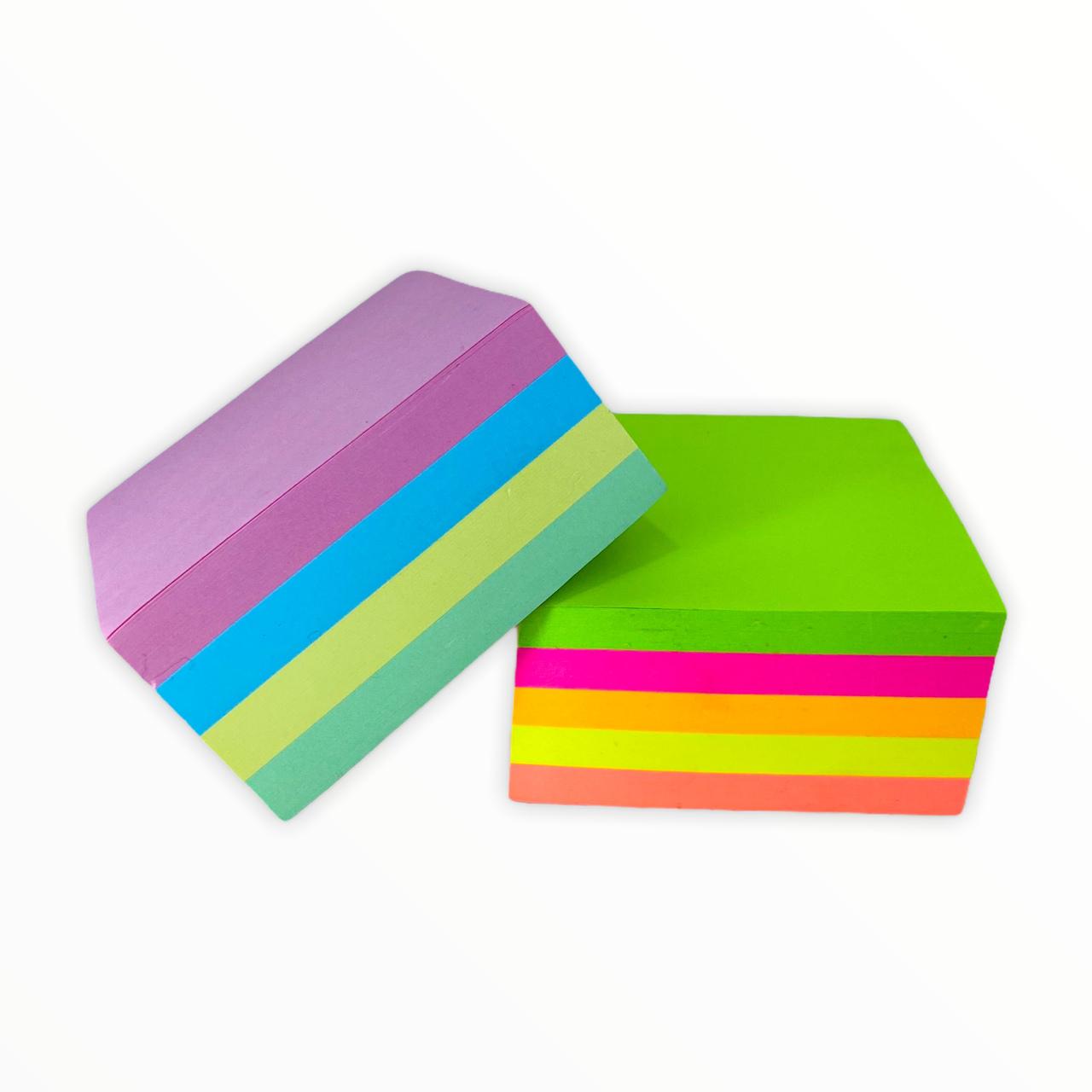 Bloco de Anotações Autocolante Post-It Folhas Neon e Pastel c/ 400 Folhas Moure Jar