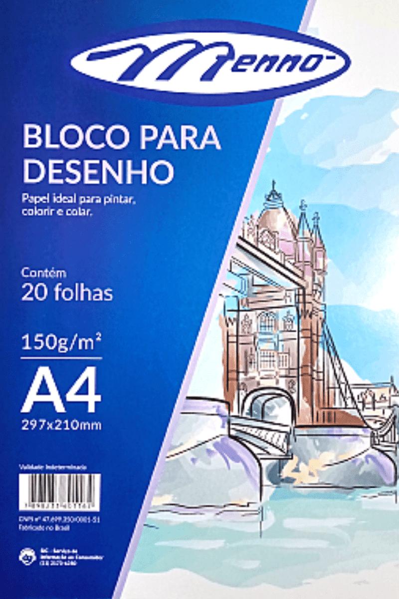 Bloco p/ Desenho A4 150g Creme - Menno
