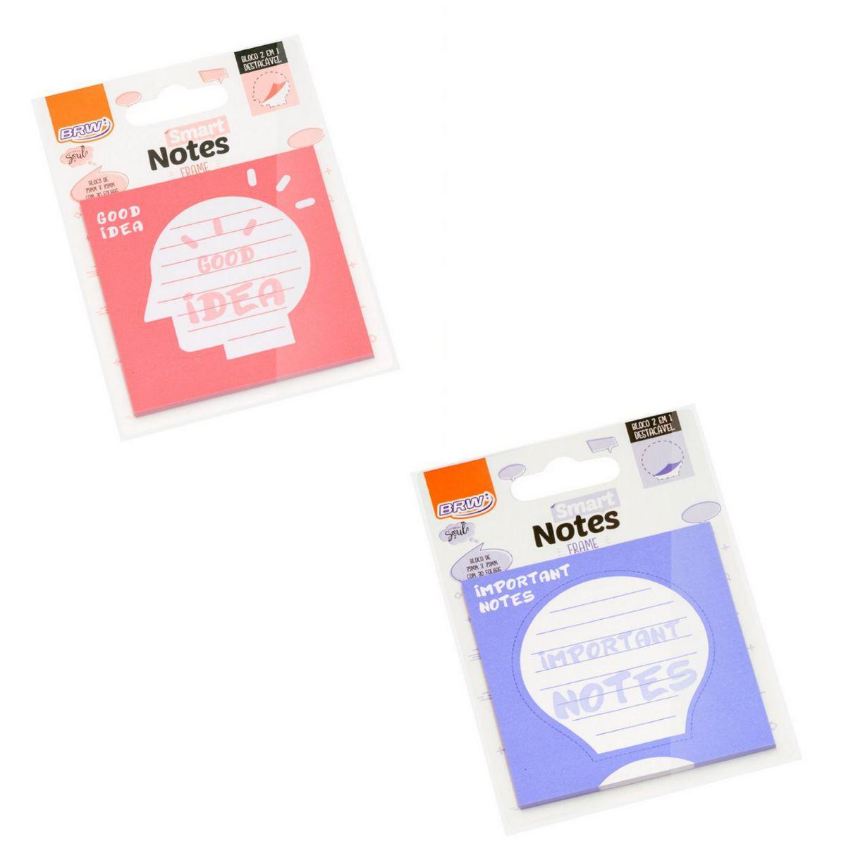 Bloco Smart Notes Frame 75x75mm com 30 folhas - BRW