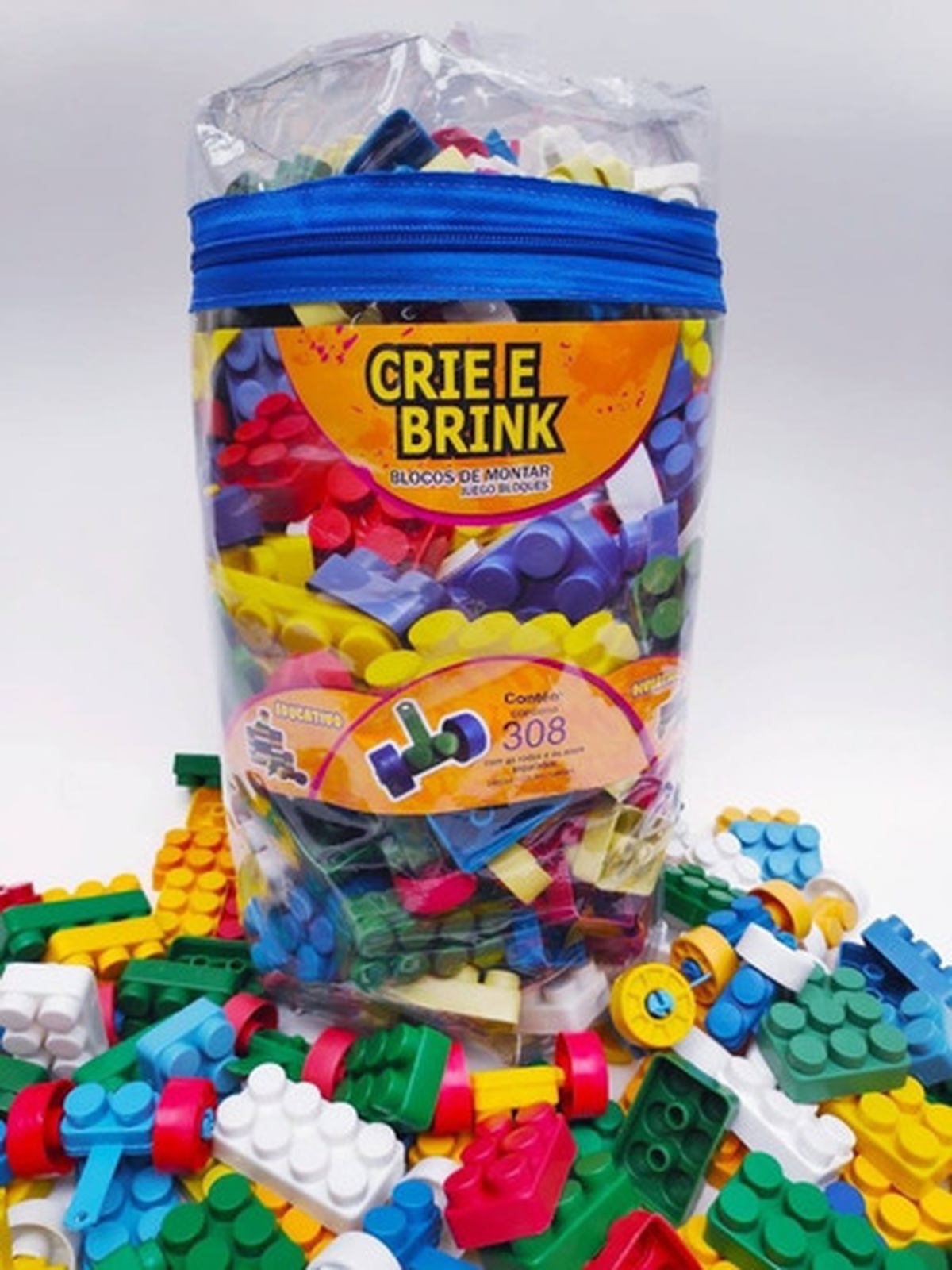Blocos De Montar bolsa grande 308 peças Gravo Brink