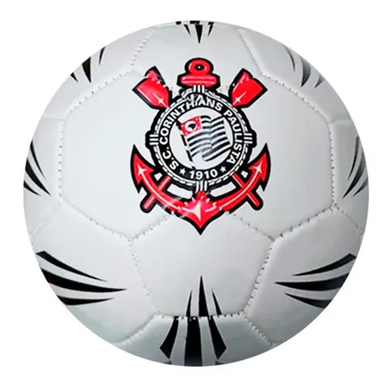 Bola de Futebol Corinthians Estádios 20 Branca e Preta Sportcom nº5