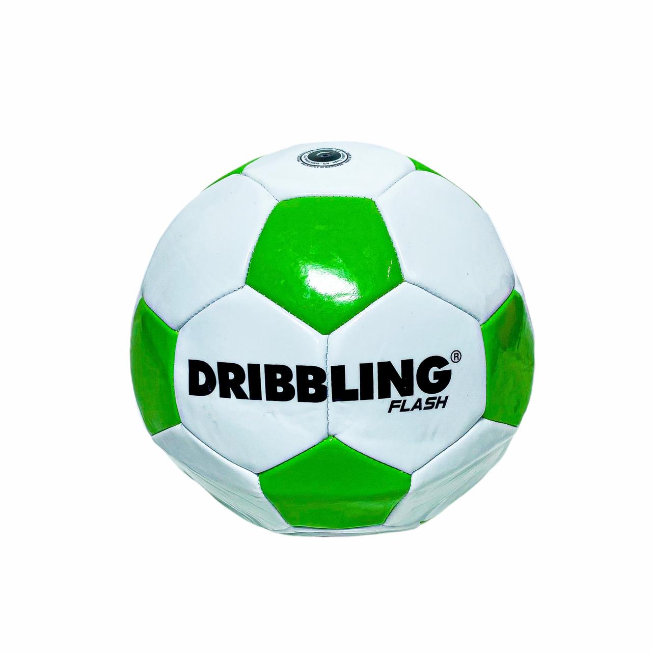 Bola de Futebol nº 5 Dribbling Flash Branca e Verde