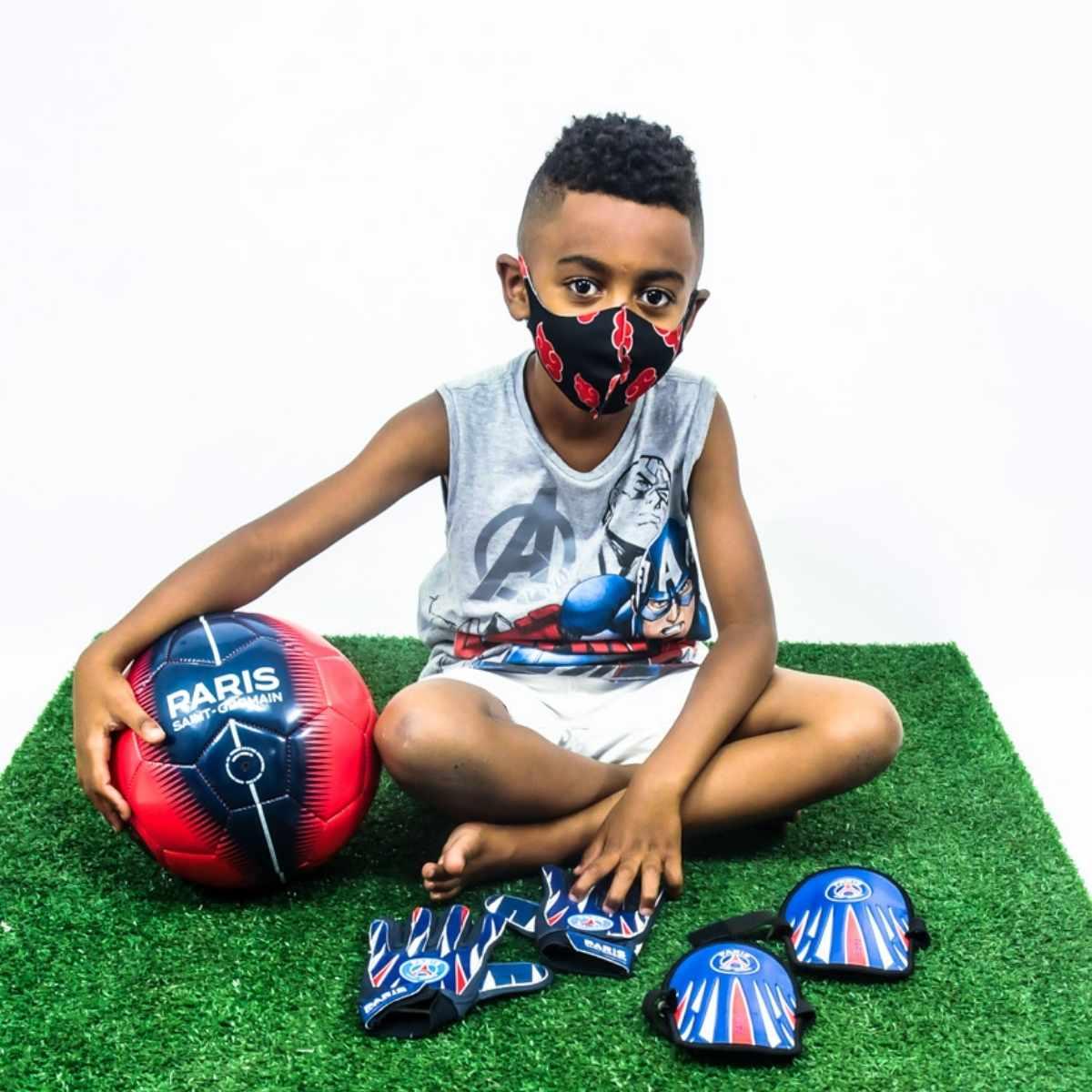 Bola de Futebol Paris Saint-Germain PSG Vermelha e Azul nº5