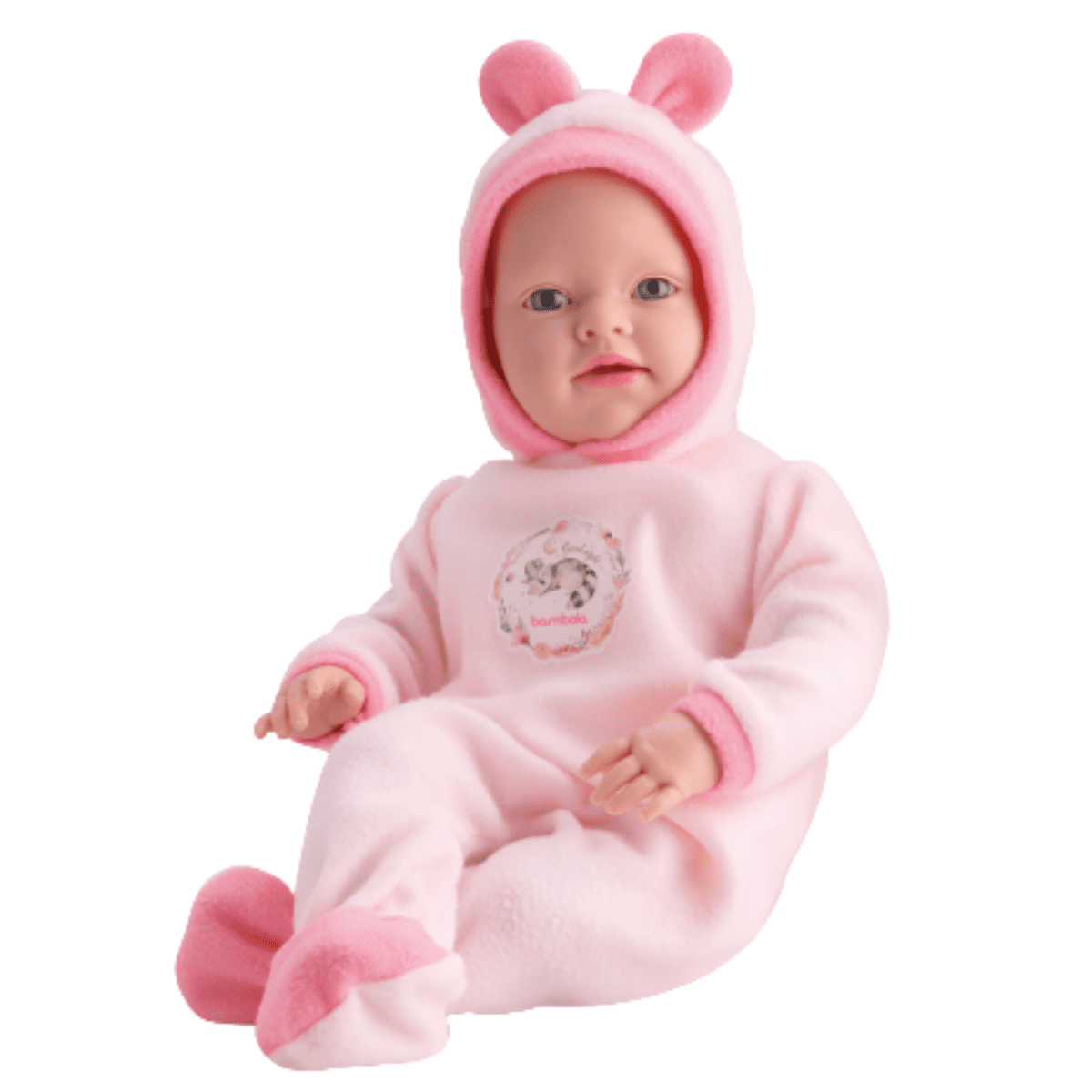 Boneca Babila Reborn Grande Linda Fala Frases - Bambola