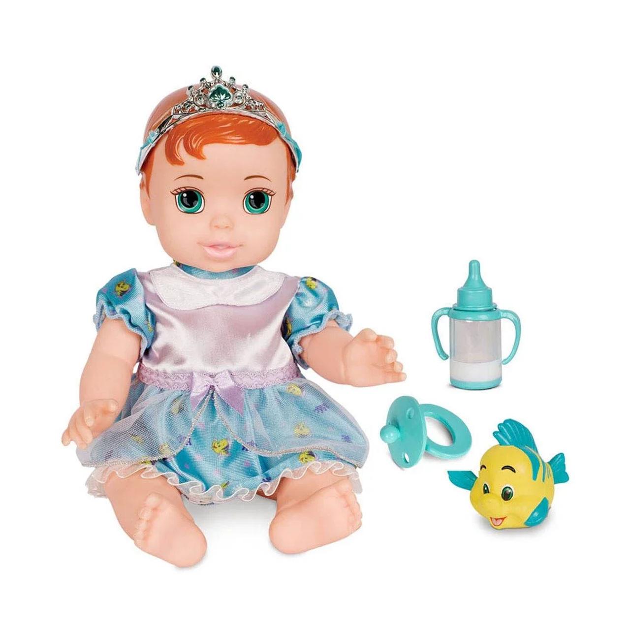 Boneca Baby Ariel Pequena Sereia com Pet Oficial Mimo