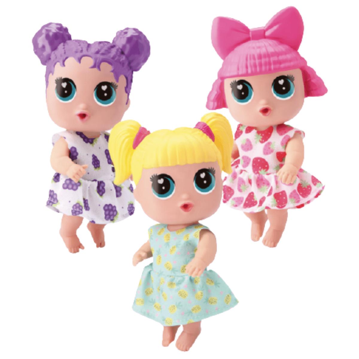 Boneca Baby Buddies Sabores Trigêmeas - Bambola