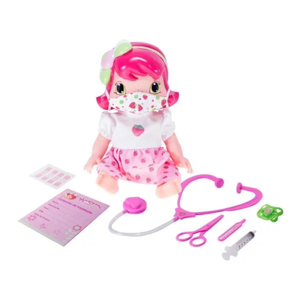 Boneca Baby Moranguinh Dodói com Máscara Mimo