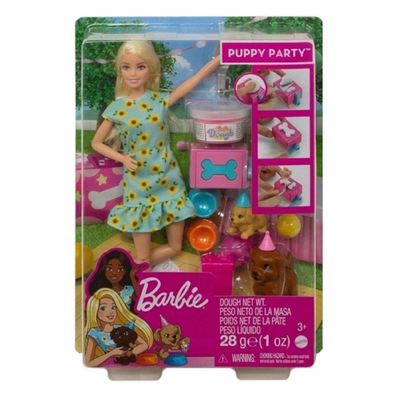 Boneca Barbie Festa Do Filhote Com Cachorrinho
