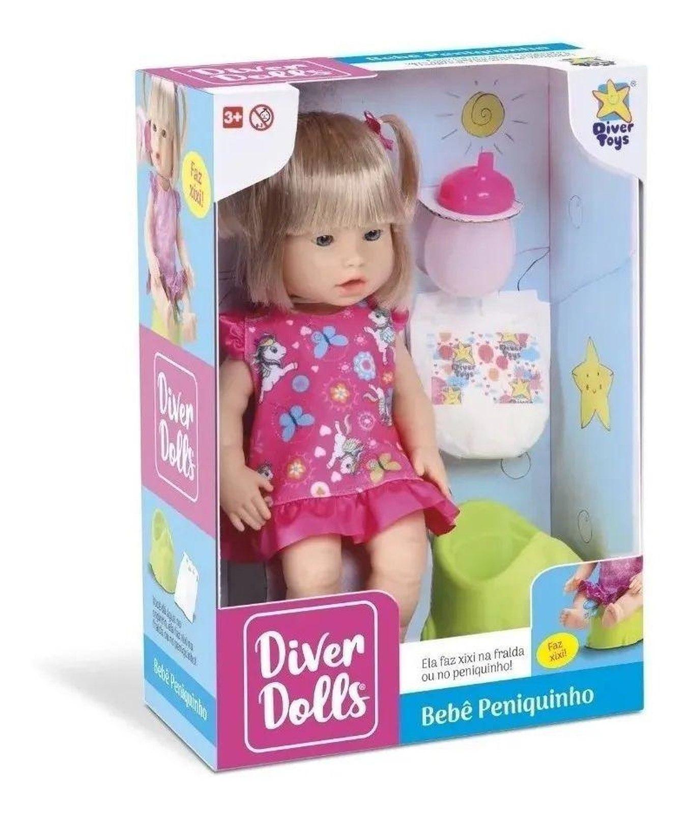 Boneca Diver Dolls Bebê Peniquinho Divertoys - Ref.: 8049