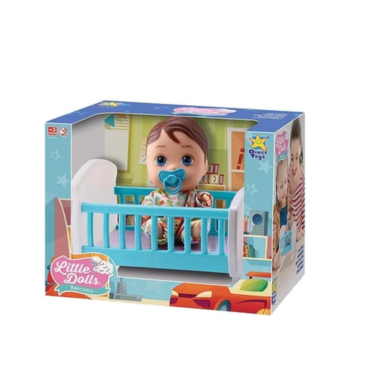 Boneca Little Dolls Bercinho Menino Divertoys - Ref.: 8071