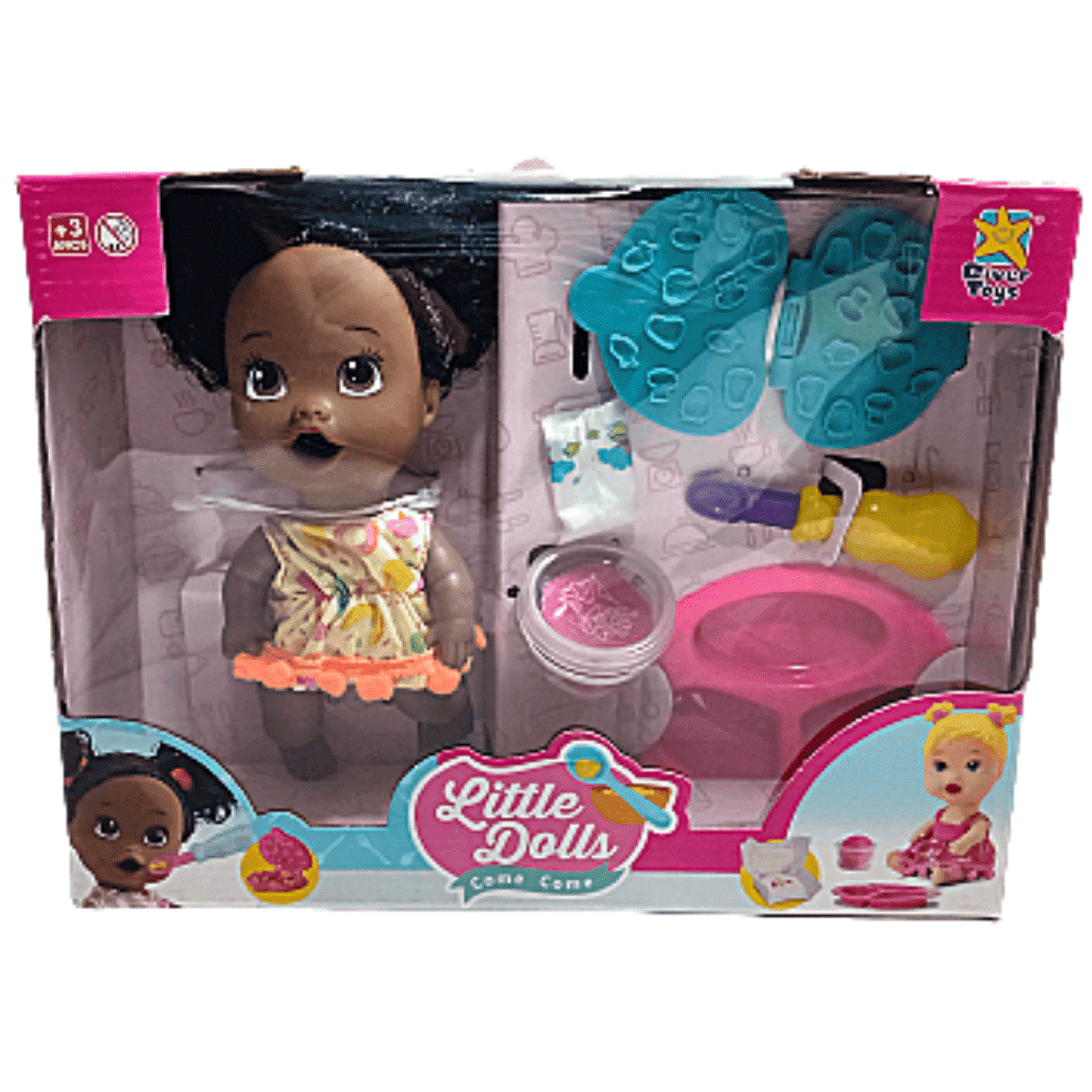 Boneca  Little Dolls Come Come - Divertoys