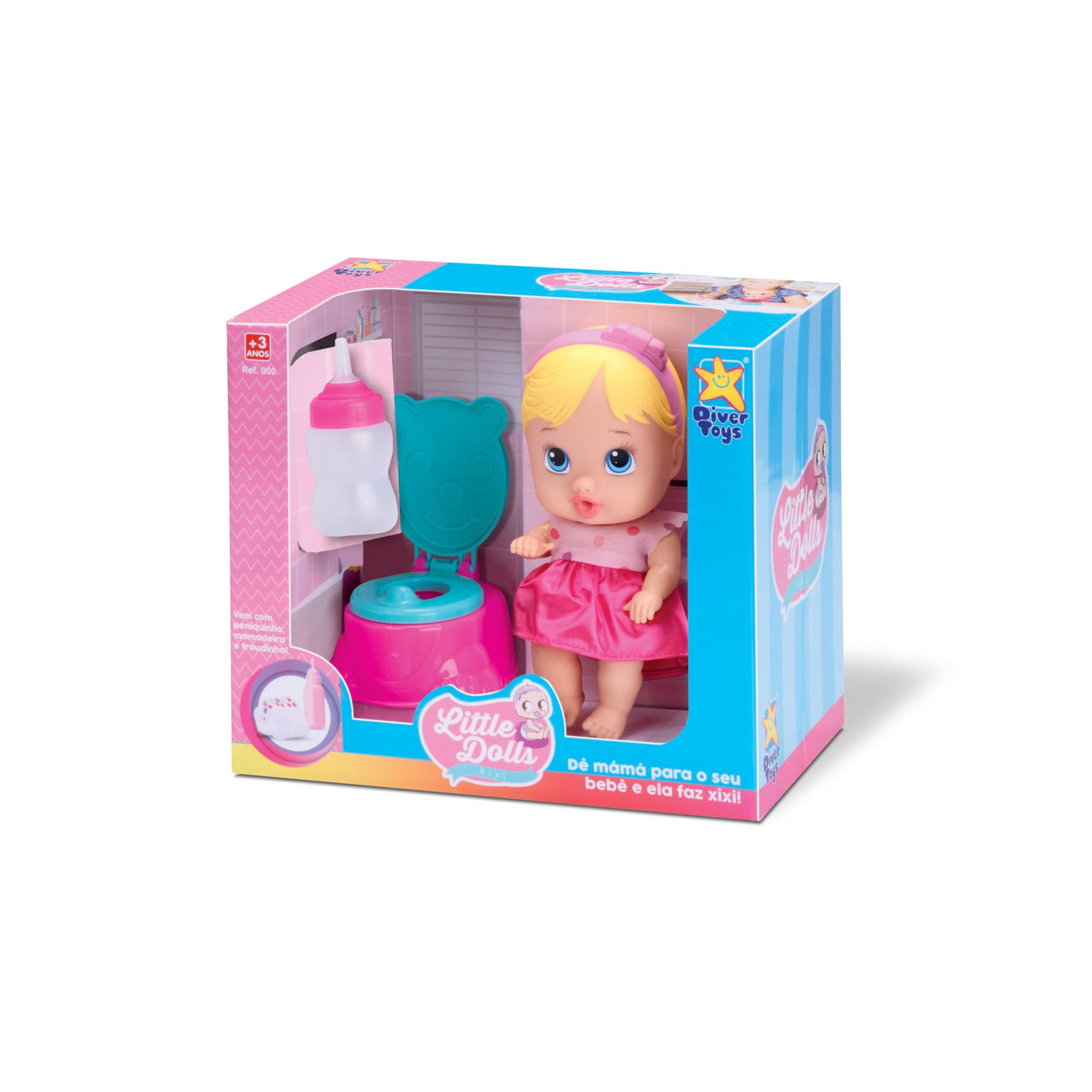 Boneca Baby Faz Xixi Little Dolls C/privadinha Divertoys Top