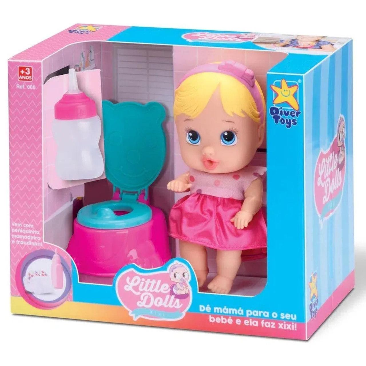 Boneca Little Dolls Faz Xixi Divertoys - Ref.: 8002