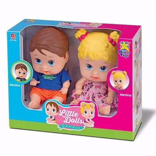Boneca Little Dolls Gêmeos - DiverToys