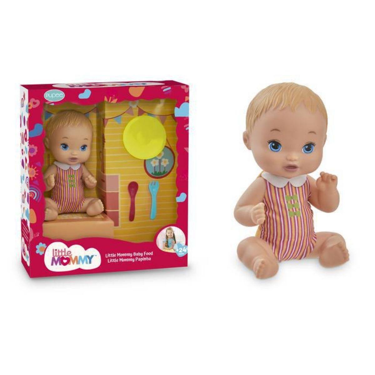 Boneca Little Mommy Papinha Com Acessorios 1026 Pupee