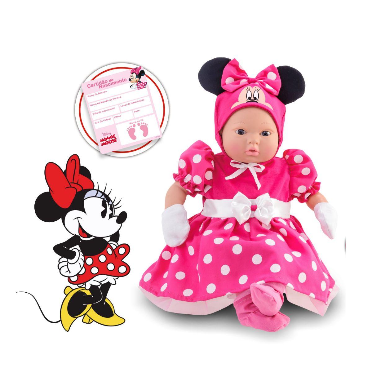 Boneca Minnie Mouse Recém Nascida
