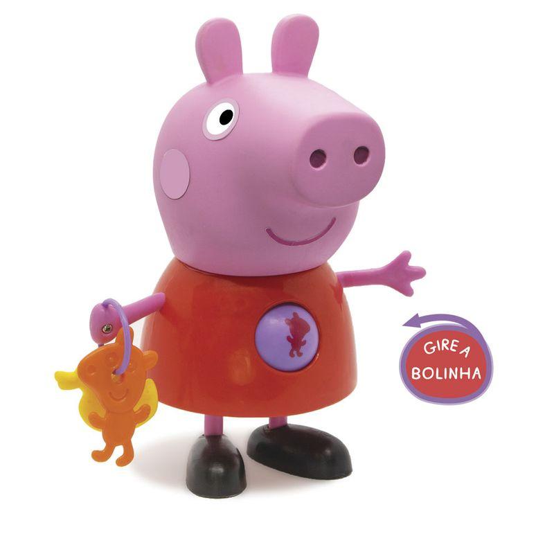Boneca Peppa Pig 25 Cm Com Atividades Infantis Original Elka