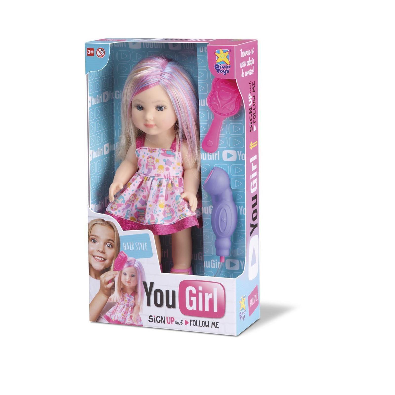 Boneca You Girl Hair Style Divertoys - Ref.: 8069