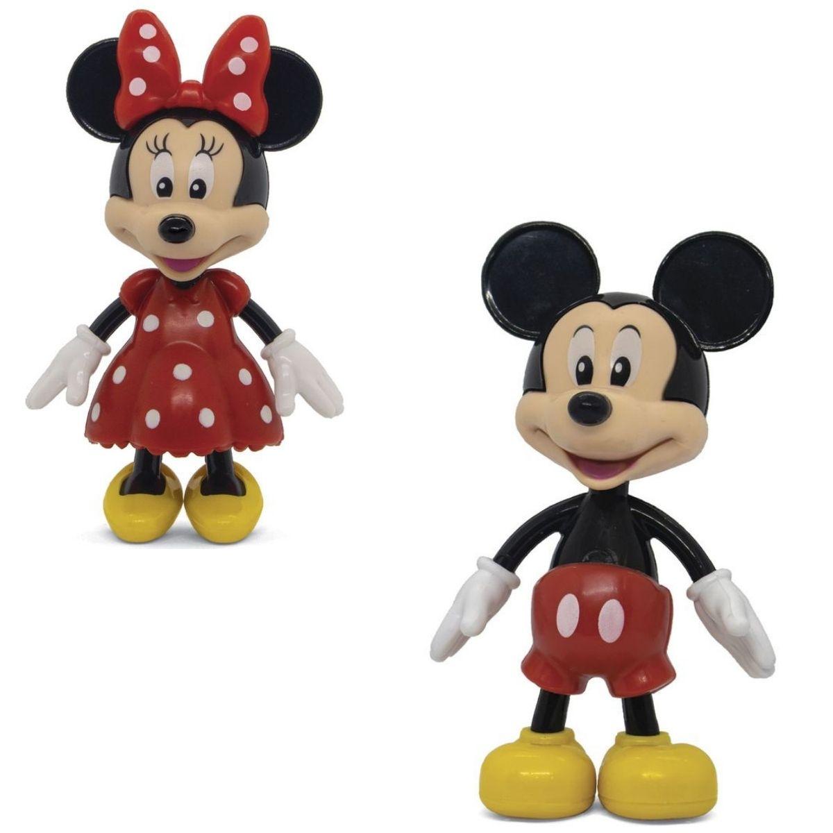 Boneco Mickey e Minnie Mouse Disney com Acessórios Elka