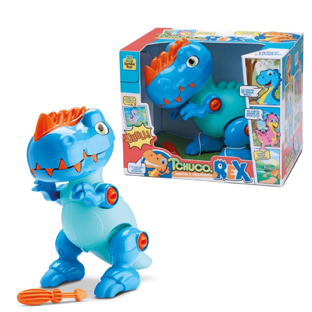 Dinossauro Tchuco Rex Monta Desmonta Educativo - Samba Toys