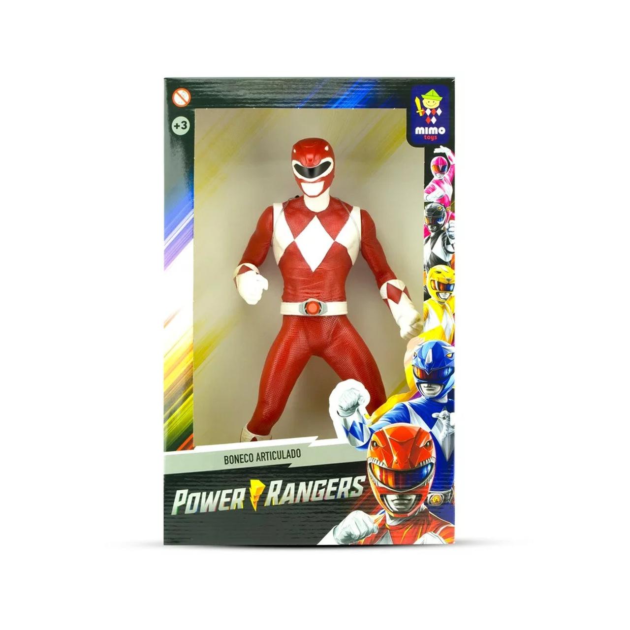 Boneco Power Ranger Vermelho Oficial Mimo